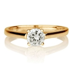 Solitaire Ring Designs 0.50 Ct Natural Certified Diamond Solid Yellow Gold