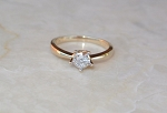 Single Solitaire Ring 0.50 Ct Natural Certified Diamond Solid Yellow Gold  Wedding