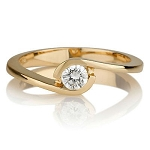 0.75 Ct Natural Certified Diamond Solid Yellow Gold Beautiful Solitaire Ring Anniversary