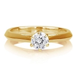 Solitaire Diamond Ring Designs 1.00 Ct Natural Certified Diamond Solid Gold Beautiful