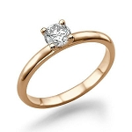 0.40 Ct Natural Certified Diamond Solid Gold Beautiful Solitaire Ring Wedding