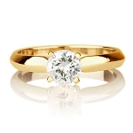 Solitaire Rings Online 1.00 Ct Natural Certified Diamond Solid Yellwo Gold Beautiful Anniversary