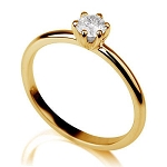 Solitaire Rings For Women 0.65 Ct-Si3 Natural Certified Diamond Solid Yellw Gold Wedding