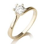 Designs Of Solitaire Rings 0.75 Ct Natural Certified Diamond Solid Yellw Gold  Anniversary