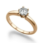 1.00 Ct Natural Certified Diamond Solid Gold Single Solitaire Ring Engagement