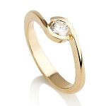 Solitaire Rings 0.50 Ct Natural Certified Diamond Solid Gold  Wedding