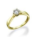 Solitaire Engagement Ring 0.80 Ct Natural Certified Diamond Solid Gold  Anniversary