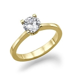 0.90 Ct Natural Certified Diamond Solid Yellow Gold Single Solitaire Ring Engagement