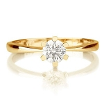 0.70 Ct Natural Certified Diamond Solid Yellow Gold Single Solitaire Ring Wedding