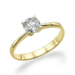 Solitaire Diamond Ring 0.50 Ct Certified Diamond Solid Yellow Gold  Anniversary