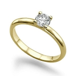 Solitaire Diamond Ring Designs 0.25 Ct Real Certified Diamond Solid Yellow Gold