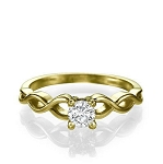 0.25 Ct Natural Certified Diamond Solid Yellow Gold Single Solitaire Ring Wedding