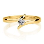 Solitaire Rings Online 0.20 Ct Natural Certified Diamond Solid Yellow Gold  Anniversary