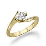Solitaire Rings For Women 0.55 Ct Natural Certified Diamond Solid Gold