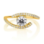1.10 Ct Cen 0.50 Ct Natural Certified Diamond Solid Yellow Gold Ring Wedding