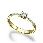 Wedding Diamond Rings 0.55 Ct Cen 0.30 Ct Natural Certified Diamond Solid Gold Wedding