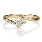 0.70 Ct Cen 0.50 Ct Natural Certified Diamond solid Gold Ring Wedding
