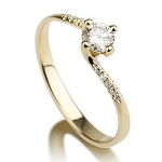 Ladies Wedding Rings 1.00 Ct Cen 0.50 Ct Natural Certified Diamond Solid Gold Wedding