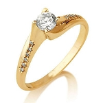 Ring For Wedding 0.75 Ct Cen 0.50 Ct Natural Certified Diamond Solid Gold Wedding