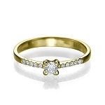 0.52 Ct Cen 0.32 Ct Natural Certified Diamond Solid Gold Ring Wedding
