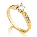 1.20 Ct Cen 1.00 Ct Natural Certified Diamond Solid Yellow Gold Ring Wedding