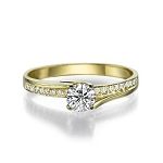 Best Wedding Rings 0.77 Ct Cen 0.42 Ct Natural Certified Diamond Solid Gold Wedding