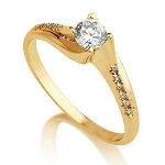 Wedding Rings For Women 0.80 Ct Cen 0.50 Ct Natural Certified Diamond Solid Yellow Gold Wedding