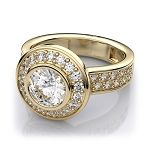 2.50 Ct Cen 1.50 Ct Natural Certified Diamond Solid Yellow Gold Ring Wedding