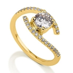 Wedding Bands For Women 1.14 Ct Cen 0.62 Ct Natural Certified Diamond Solid Yellow Gold Wedding