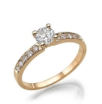 Diamond Wedding Rings 0.50 Ct Cen 0.25 Ct Natural Certified Diamond Solid Gold Wedding