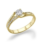 Gold Wedding Rings 1.00 Ct Cen 0.50 Ct Natural Certified Diamond Wedding