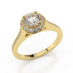 Womens Wedding Rings 2.50 Ct Cen 1.00 Ct Natural Certified Diamond Solid Gold Wedding