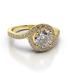 2.60 Ct-Si2 Cen 1.00 Ct Natural Certified Diamond Solid Gold Ring Wedding