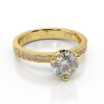 Beautiful Wedding Rings 1.50 Ct Cen 0.80 Ct Natural Certified Diamond Solid Gold Wedding
