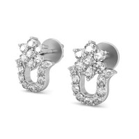 Diamond Earrings 0.24 ct Natural Certified Solid Gold Anniversary Gift