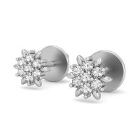 Diamond Earrings for Women 0.21 ct Natural Certified Solid Gold Studs