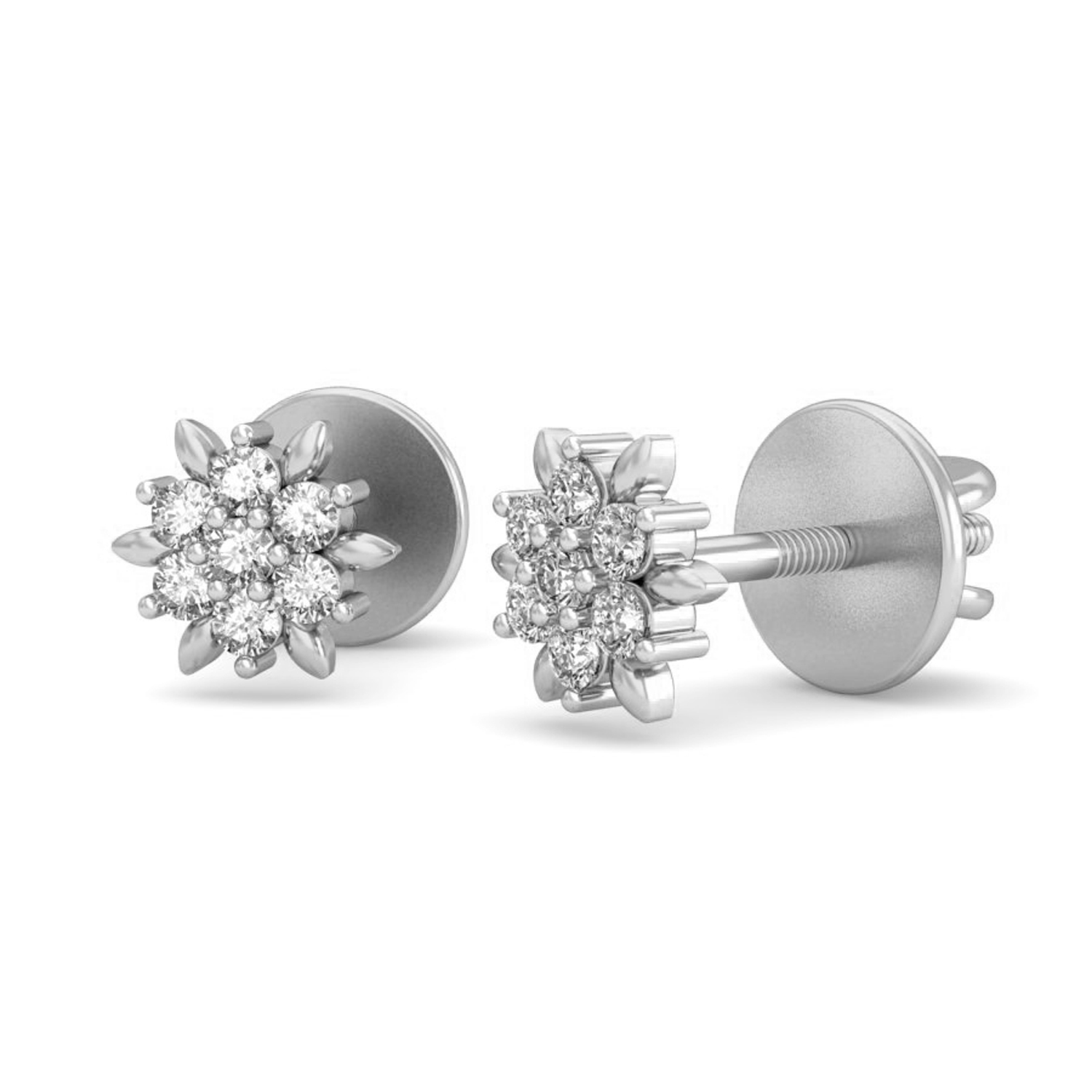 Diamond Earrings for Women 0 21ct Natural Certified Gold Studs
