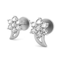 Designer Earrings 0.21 ct Diamond Natural Certified Solid Gold Studs