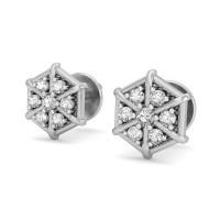 Diamond Earrings 0.23 ct Natural Certified Solid Gold Anniversary Studs