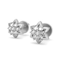 Diamond Earrings for Women 0.14 ct Natural Certified Solid Gold Studs