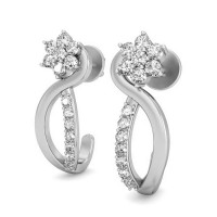 Diamond Drop Earrings 0.29 ct Natural Certified Solid Gold Studs