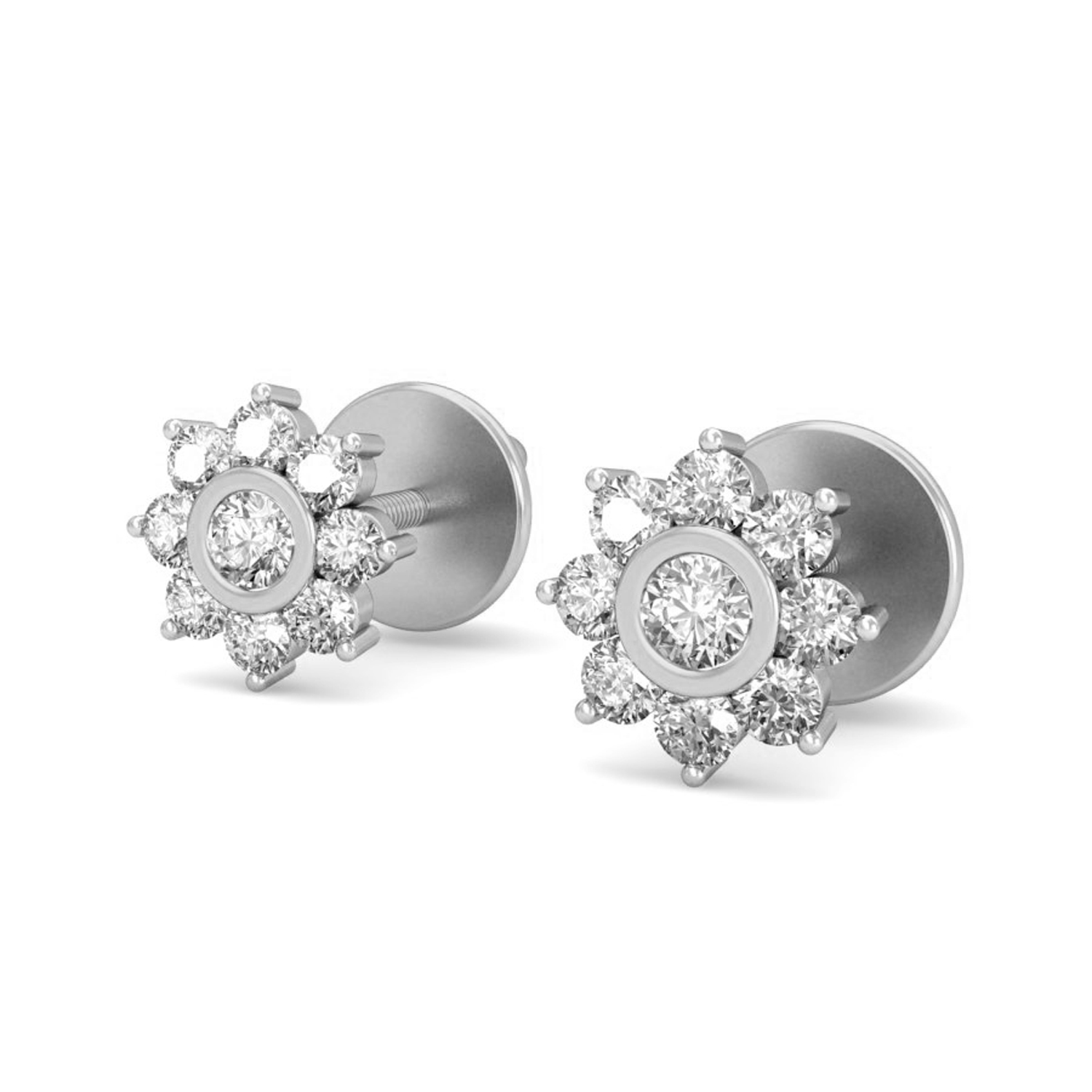 Diamond Earrings for Women 0 35ct Natural Certified Gold Studs
