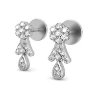 Designer Earrings 0.30 ct Diamond Natural Certified Solid Gold Studs