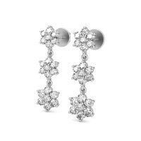 Gold Diamond Earrings 0.7 ct For Wedding & Anniversary