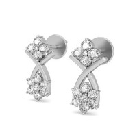 Diamond Earrings for Women 0.26 ct Natural Certified Solid Gold