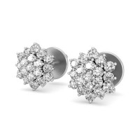 Diamond Earrings Studs 0.57 ct Natural Certified Solid Gold