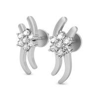 Gold Earrings 0.21 ct Diamond Wedding Anniversary Studs