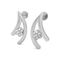 Gold Diamond Earrings 0.21 ct Designer Anniversary Studs