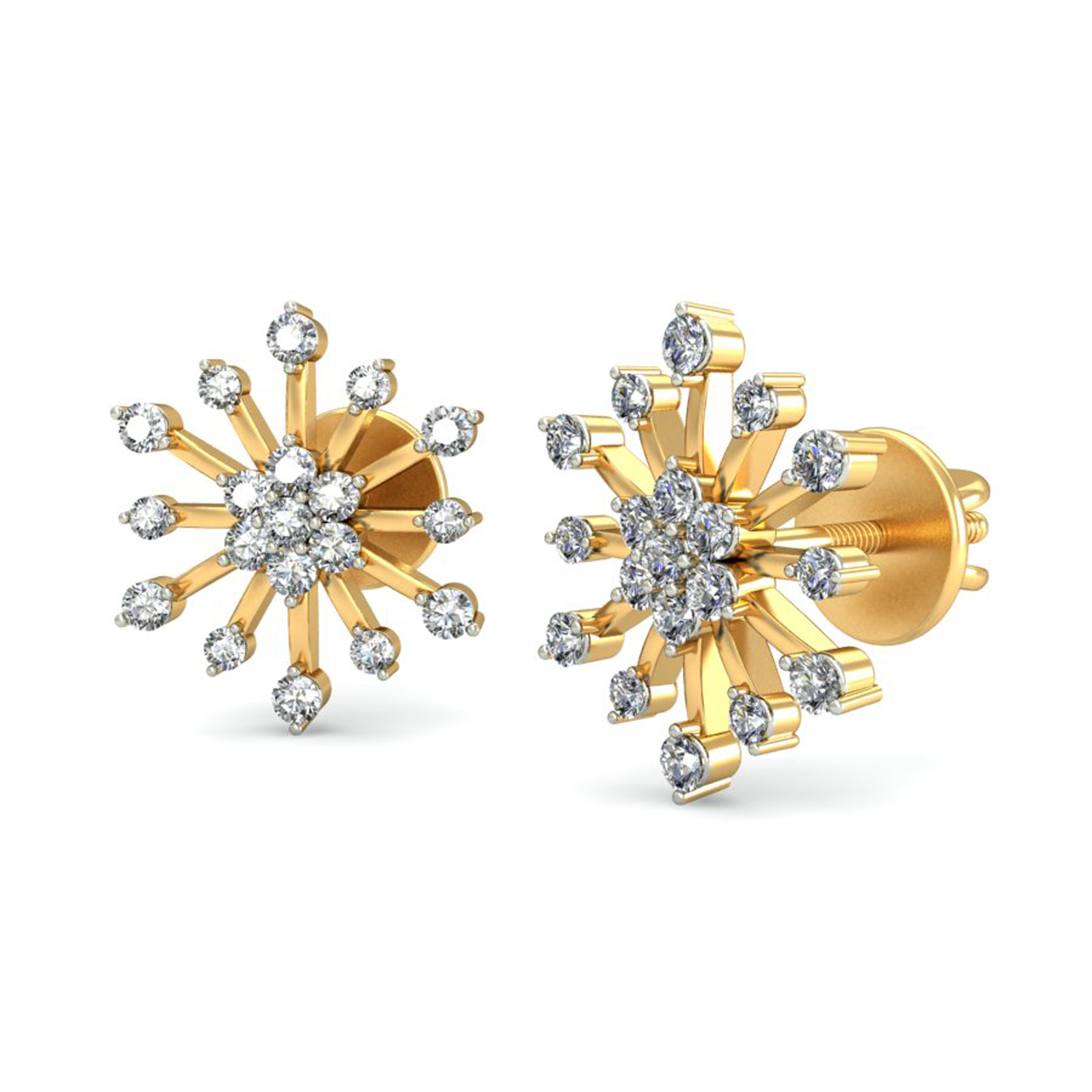 diamond earrings for women 051ct natural certified gold studs