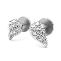 Diamond Earrings for Women 0.22 ct Natural Certified Solid Gold Studs